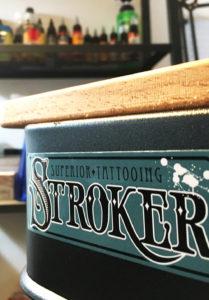 stroker tattoo studio sticker