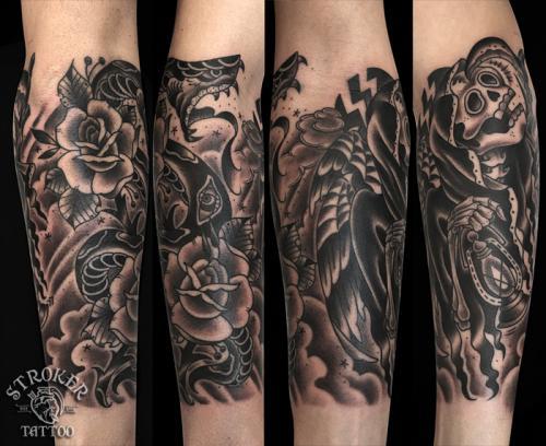 kan1605-skull_snake_rose
